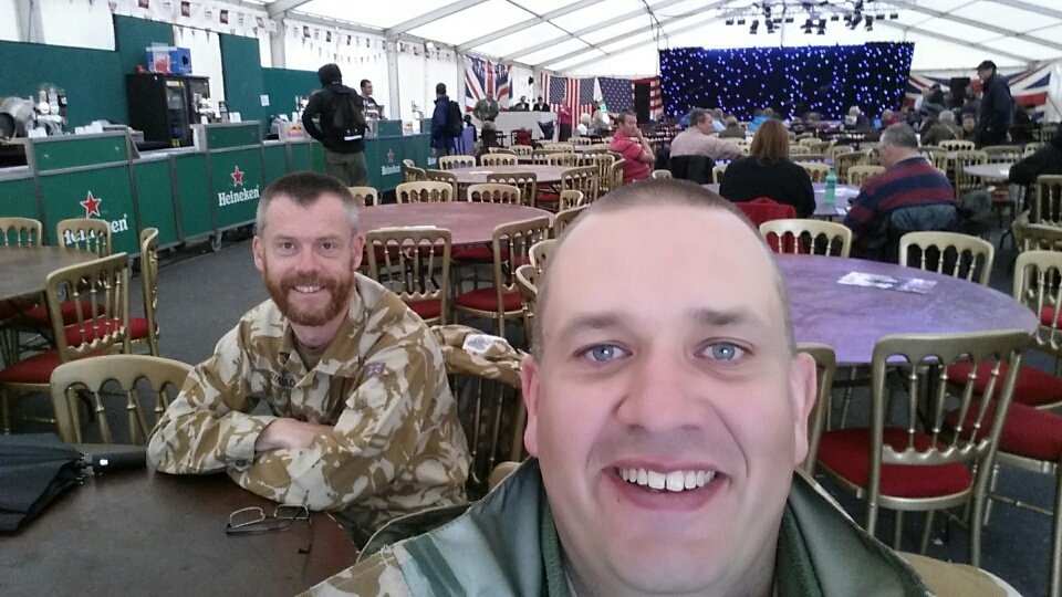 Paul and me in the victory tent