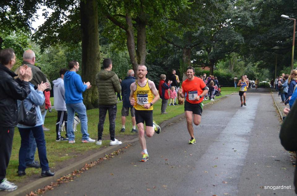 The final sprint. I overtook all those runners in the picture!!