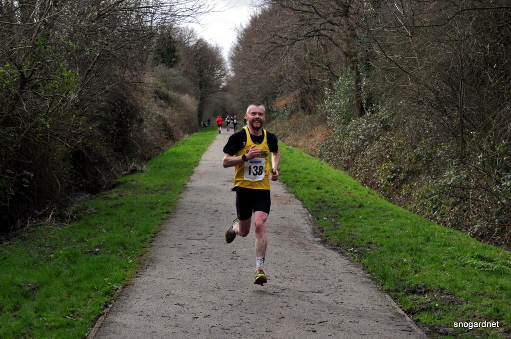 Stockport Trail Half Finish