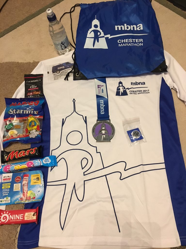 Chester Metric Marathon goody Bag
