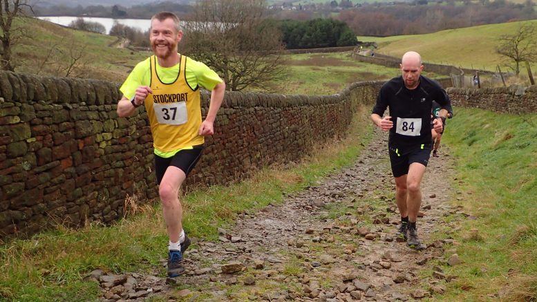 Final few hundred metres of the Gravy Pud fell race yesterday