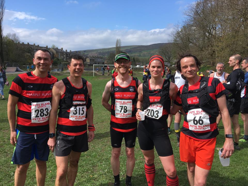 Marple Runners at the end of the race