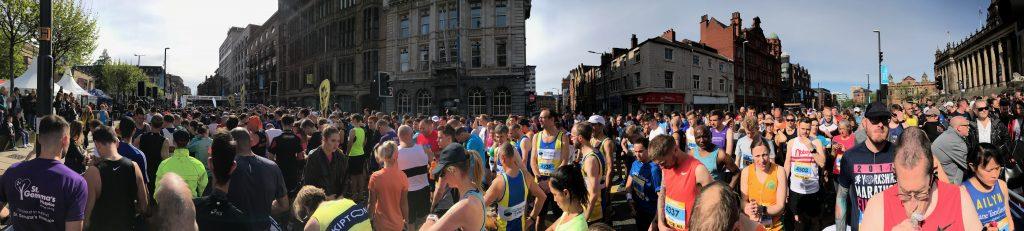 Leeds Half Marathon - startline