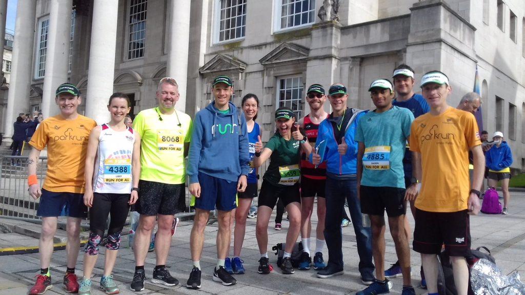 A few folks from Twitter! The Leeds Half Marathon #Visorclub #tweetup