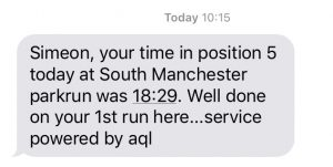 South Manchester parkrun result
