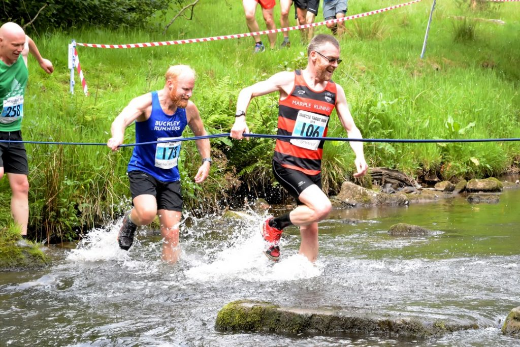 River crossing during the fell race