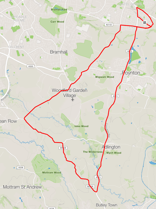 Day 18 - cycle to Wilmslow and Adlington
